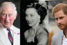Princ Charles, princezna Margaret a princ Harry.