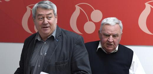 Šéf komunistů Vojtěch Filip.