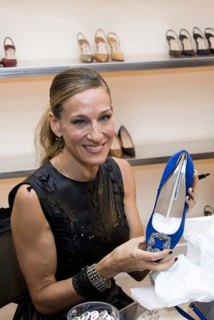 Obdivovatelka Blahnikových bot S. J. Parkerová.