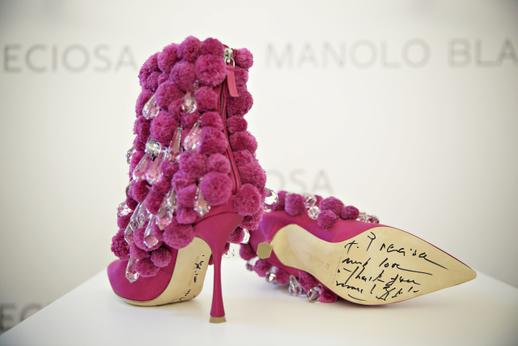 Jeho boty na výstavě The Art of Shoes.