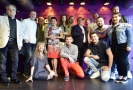 Herci a další tvůrci muzikálového zpracování oblíbené filmové hudební komedie Trhák na tiskové konferenci 19. dubna 2018 v Praze. Muzikál uvede pražské Divadlo Broadway 25. října.