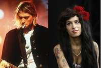 Jim Morrison, Kurt Cobain a Amy Winehouse.