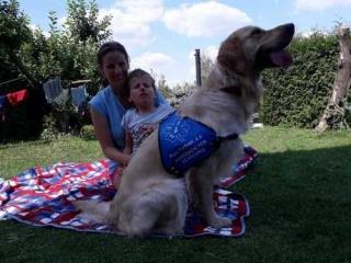 Filip s asistenčním psem.