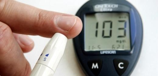 Measurement of blood sugar, photo illustration.