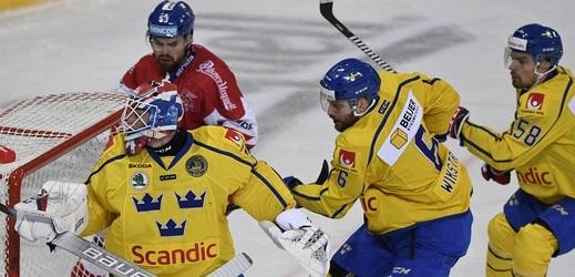 Říhovi se premiéra nepovedla, čeští hokejisté nestačili na Švédy.