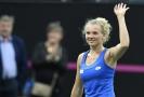 Tenistka Kateřina Siniaková během fedcupového finále.