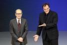 Ennio Morricone (vlevo) a Quentin Tarantino.
