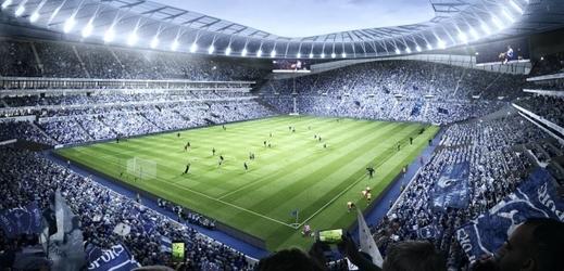 Obrázek nového stadionu Tottenhamu.