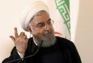 Íránský prezident Hasan Rúhání kritizuje americké sankce.