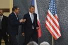 Americký ministr energetiky Rick Perry s Andrejem Babišem.