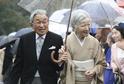 Císař Akihito s manželkou.