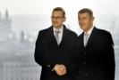 Premiér A. Babiš (vpravo) a polský protějšek M. Morawiecki.