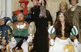 Rolf Hoppe ve své slavné roli krále v legendární pohádce Tři oříšky pro Popelku.