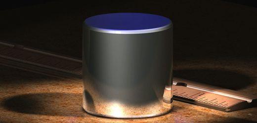 Přibližná podoba mezinárodního prototypu kilogramu.