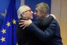 Andrej Babiš s předsedou Evropské komise Jeanem-Claudem Junckerem.