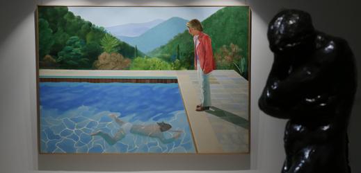 Kultovní obraz britského malíře Davida Hockneyho nazvaný Portrét umělce (Bazén se dvěma postavami).