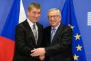 Andrej Babiš (vlevo) a Jean-Claude Juncker.