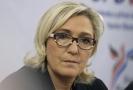 Šéfka francouzského krajně pravicového Národního sdružení Marine Le Penová.