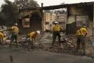 Následky požáru v Kalifornii.