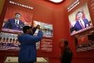 Podobizna čínského prezidenta Si Ťin-pchinga.