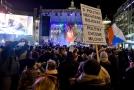 V horní části Václavského náměstí v Praze se uskutečnilo shromáždění k příležitosti oslav 17. listopadu nazvané Koncert pro budoucnost.