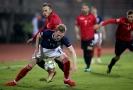 Hráči Skotska v utkání s Albánií (ilustrační foto).