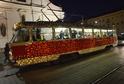 Vánoční tramvaj bude jezdit po Brně.