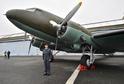Vojenský transportní letoun Douglas DC-3 Dakota.
