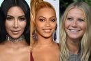 Kim Kardashian, Gwyneth Paltrow a Beyoncé.