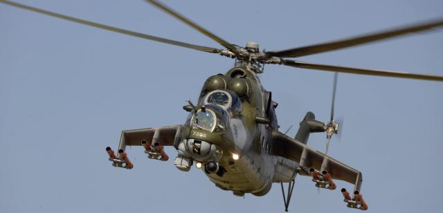 1148732c4 V Náměšti havaroval bitevní vrtulník | Týden.cz