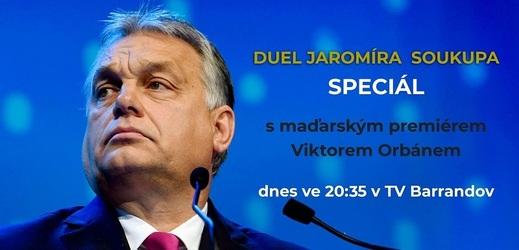 Duel SPECIÁL - Jaromír Soukup vs. Viktor Orbán již dnes!