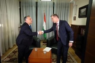 Viktor Orbán po rozhovoru s Jaromírem Soukupem.