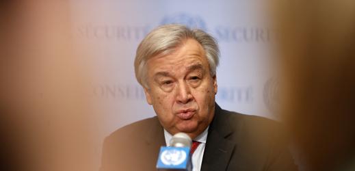 Generální tajemník OSN António Guterres.
