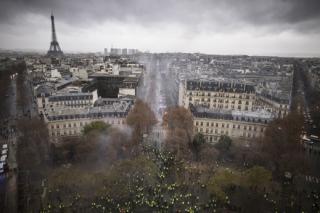 Demonstrace v Paříži.