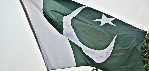 Pákistánská vlajka.