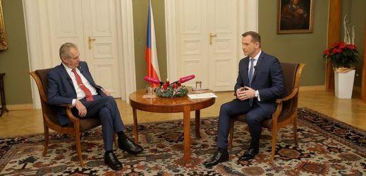 Miloš Zeman (vlevo) a Jaromír Soukup.
