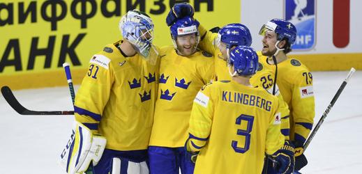 Švédští hokejisté, jenž loni vyhráli na MS.