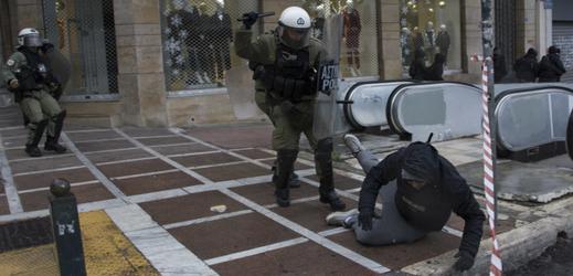 Protesty v Aténách.