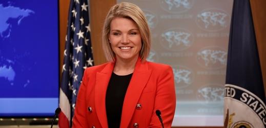 Mmluvčí ministerstva zahraničí USA Heather Nauertová.