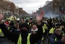 Demonstrace žlutých vest v Paříži.