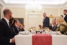 Miloš Zeman na adventní večeři v Lánech.