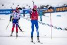 Radost Kaisy Mäkäräinenové v cíli po vyhrané stíhačce.