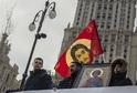 Tisíce lidí se shromáždily před katedrálou sv. Sofie v Kyjevě.