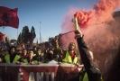 Protivládní protesty v Římě.