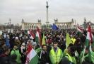 Nedělní demonstrace v Maďarsku.