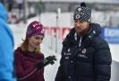 Olympijští vítězové ve sportovní střelbě a manželé Kateřina (vlevo) a Matt (vpravo) Emmonsovi v dějišti Světového poháru v biatlonu v Novém Městě na Moravě.