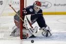 Ruský hokejový brankář Sergej Bobrovskij z Columbusu se stal nejlepším hráčem uplynulého týdne v NHL.