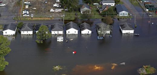 Řádění hurikánu Florence.