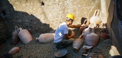 Archeologický areál v italských Pompejích.