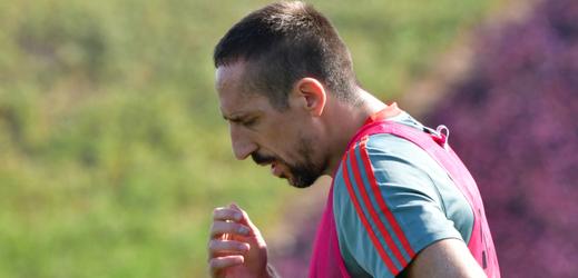 Frank Ribéry na tréninku Bayernu Mnichov.
